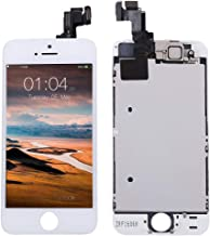 Screen Replacement for iPhone 5s White, Fully Pre-Assembled LCD Display and Touch Screen Digitizer Replacement with Proximity Sensor, Earspeaker and Front Camera, Repair Tools and Screen Protector