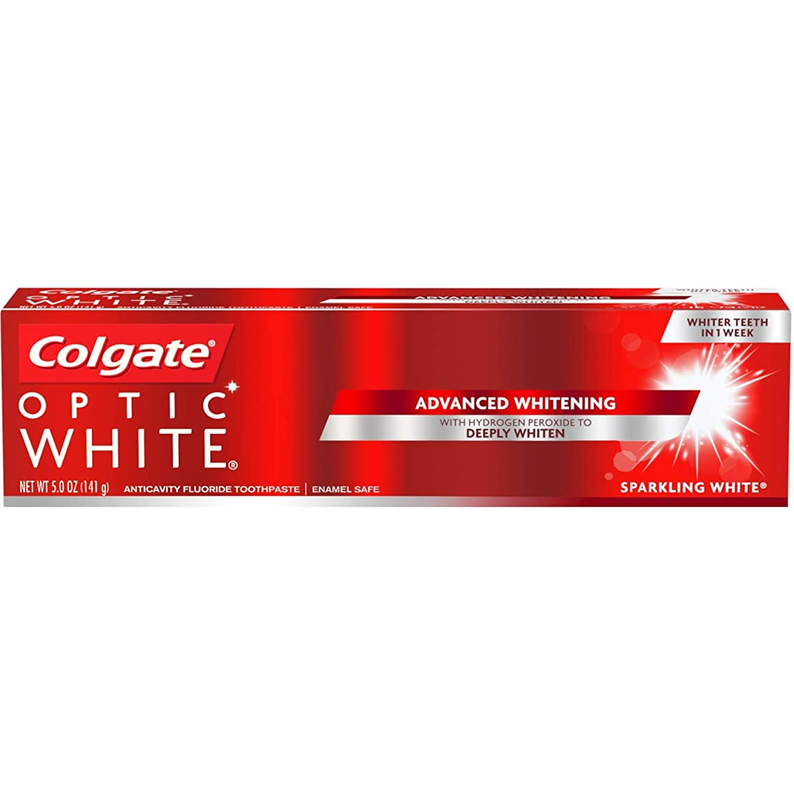一節敏感な窒素Colgate Optic White Sparkling Mint Toothpaste, 5 oz by COLGATE-PALMOLIVE