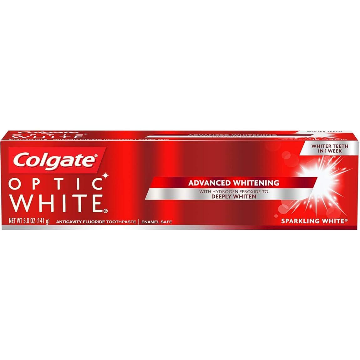 リングバック退屈シエスタColgate Optic White Sparkling Mint Toothpaste, 5 oz by COLGATE-PALMOLIVE