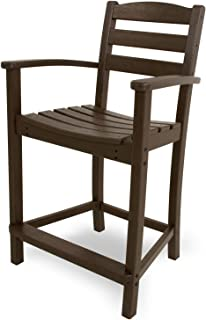POLYWOOD TD201MA La Casa Café Counter Arm Chair, Mahogany