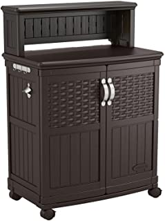 Suncast All-weather Construction Engineered Patio Storage and Prep Station