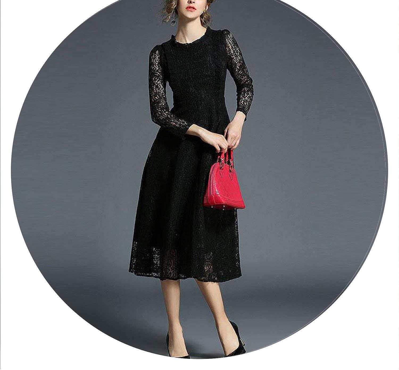 AllAboutUs England Style Vintage Elegant Ruffles Elegant Lace Women Evening Party Dresses M140