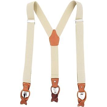 Mens Trousers Braces Mens Stretch Adjustable Clip Braces Gift Idea 3cm Clips