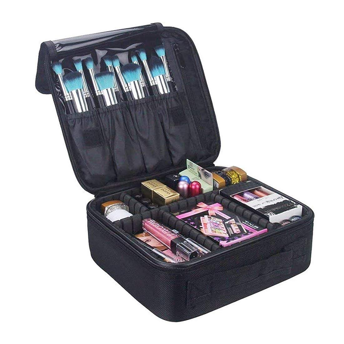 ペレット熱帯の未満OUTRY プロ用 メイクボックス 高品質 多機能 多容量 メイクブラシバッグ 収納ケース スーツケース?トラベルバッグ 化粧バッグ メイクブラシ 化粧道具 小物入れ (ブラック)