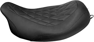 Mustang Motorcycle Seats Black Wide Tripper Forward Solo Seat with Diamond Stitching