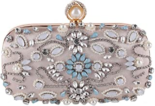 Fine Bag/Women's Clutches Crystal Evening Bag Clutch Purse Bags Special Occasion Evening Handbags Banquet Bag (Color : Apricot, Size : One Size)