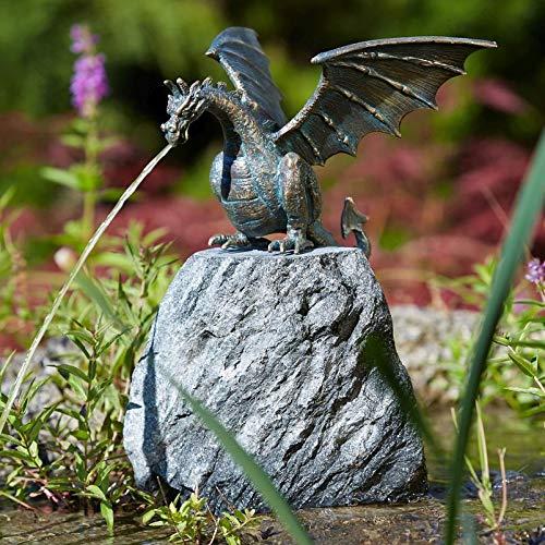 Rottenecker Gartenfigur Drachenvogel Terrador klein, Bronze, Höhe: 20 cm