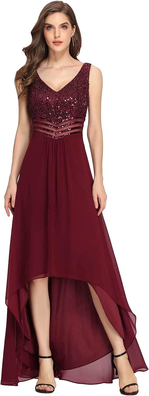 Ever-Pretty Women's Elegant V-Neck Sequin Plus Size Formal Evening Dresses 0410
