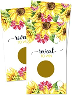 Sunflower Scratch Off Game Cards (28 Pack) Wedding, Baby Shower or Party