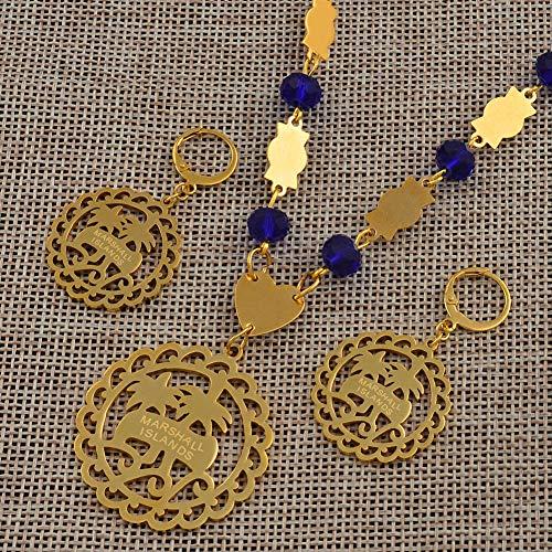 NCDFH Conjuntos de Joyas para Mujeres con Cuentas de Bolas t Collares Pendientes Estilos de Moda Regalos # J0200 Red Beads 60cm Cadena