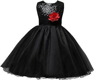 ea03c1fdb3e Happy Cherry Robe de Princesse pailleté pour Enfant Fille en Tulle - Robe  de Cérémonie