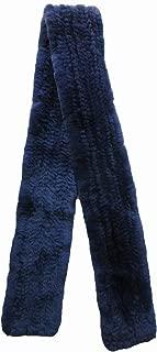 Women's Real Rex Rabbit Knitted Fur Scarf Neckerchief