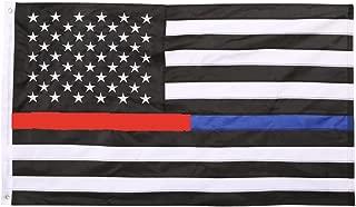 thin blue line red line flag