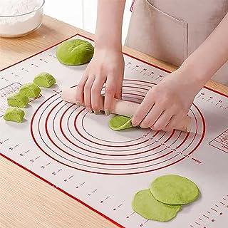 Tapis de cuisson en silicone - Tapis de cuisson - Rouleau à pâtisserie - En acier inoxydable - Pour pâtisseries, pizzas, p...