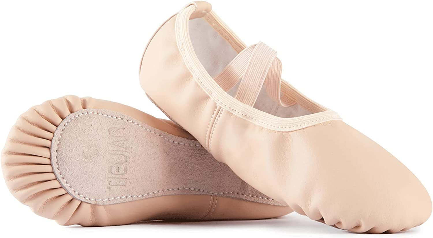 VICVIK Leather Ballet Shoes Spring new work for - Fla Girls Slippers It is very popular Yoga
