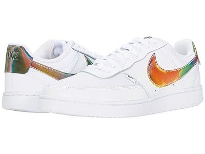 Nike Court Vision Low Premium (White/Rainbow/Pure Platinum/Black) Men