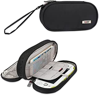BUBM Double Compartment Storage Case Compatible with PS Vita and PSP, Protective Carrying Bag, Portable Travel Organizer Case Compatible with PSV and Other Accessories, Black