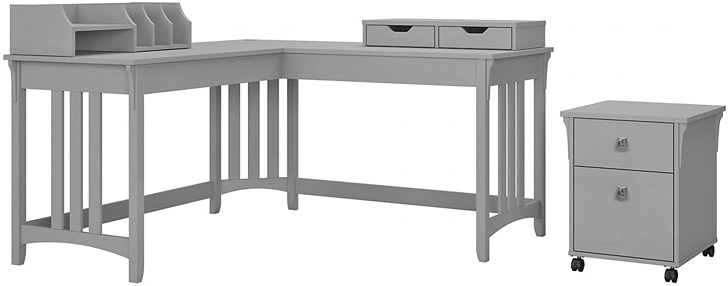 Bush Furniture Salinas L Wholesale Shaped Writing File Ca Reservation with Desk Mobile