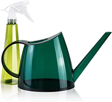 Watering Can for Indoor Plants, Plastic Small Watering Can (40 oz 1/3 Gallon 1.4 L) with Long Spout for Outdoor, Garden &