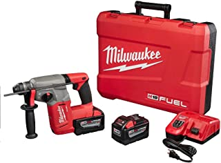 Milwaukee M18 FUEL 18-Volt Lithium-Ion Brushless 1 in. SDS-Plus Rotary Hammer High Demand 9.0Ah Kit | Hardware Power Tools for Your Machine Shop, Construction or Jobsite Needs