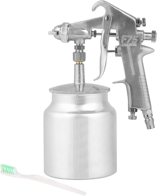 Teror Pistola de pulverización, Boquilla de 1,5 mm, Capacidad de 750 ml, Modo de alimentación por succión, Pistola de pulverización de Pintura de Aire, Herramienta neumática