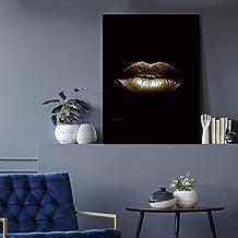 ganlanshu Decoración del hogar Pintura sobre Lienzo Hermosa Pintura Labios Pared Arte Imagen Cartel Sala de Estar,Pintura sin marco-30X45cm