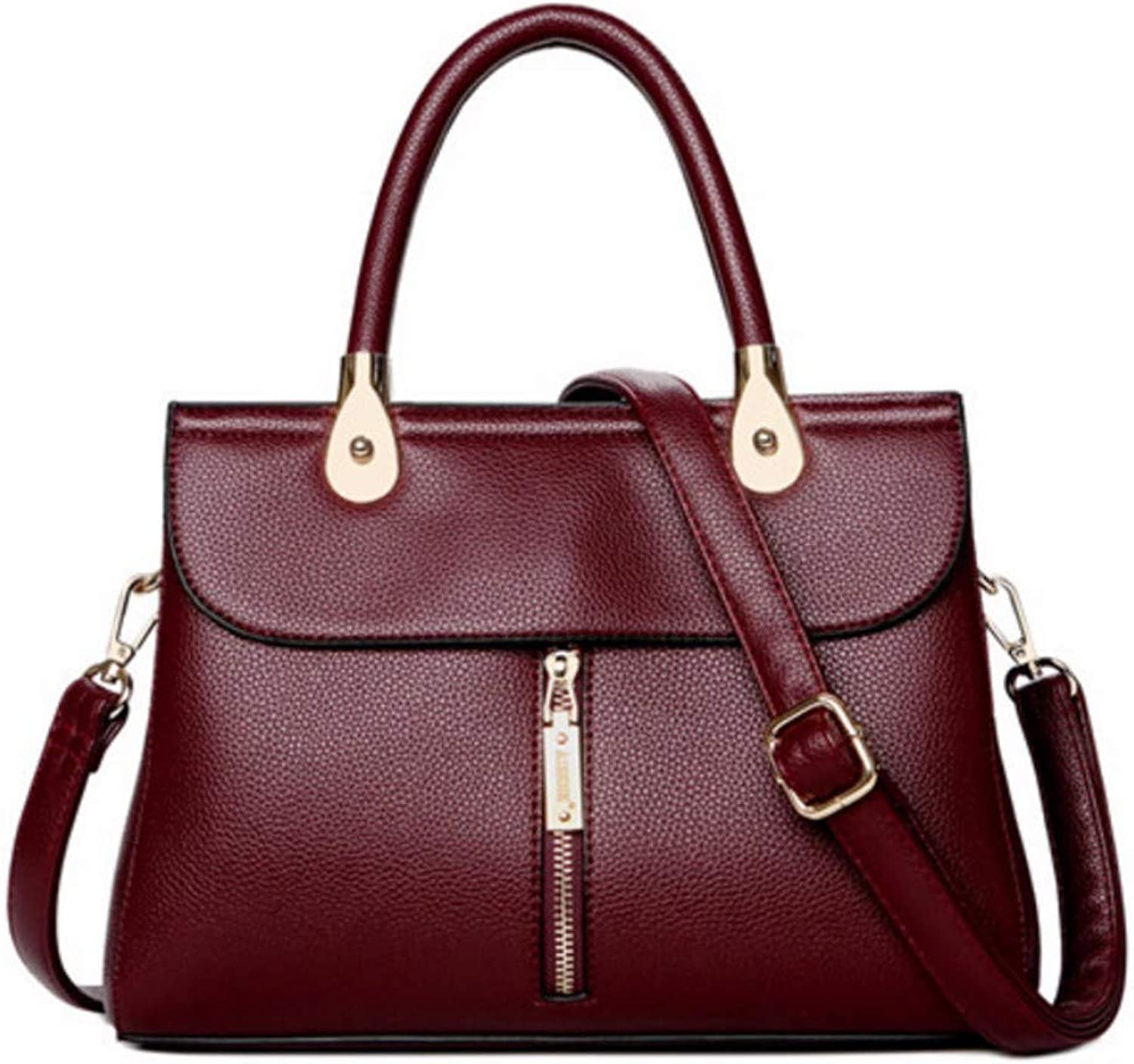 JQSM Mother Gift Hight Quality Classic Leather Bag for Women 2019 Mid Zipper Leather Handbags Ladies Hand Bags
