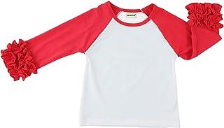 Wennikids Little Girls' Long-Sleeve Ruffle T-Shirt