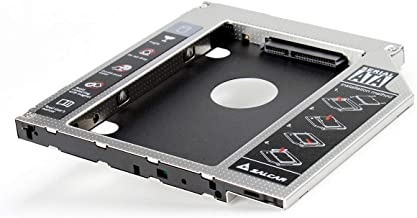 Salcar - 2.HDD SATA-SATA 3.0 (SATA I II III) Bahía de Disco Duro 2nd ODD SSD Hard Drive Caddy 9,5mm Universal portátil de CD/DVD-ROM para Notebooks sustituye SuperDrive