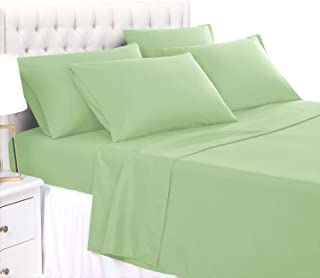 BASIC CHOICE 4 Piece Sheet Set - Luxury 100% Microfiber Wrinkle & Fade Resistant Bed Sheets Twin, Sage Green