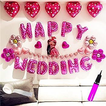 超巨大 結婚式 バルーン ジャンボ ウェディング バルーン セット(Happy Wedding balloon set)結婚式 受付 飾り付け ポンプ付き