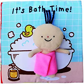 Cloth Baby Books Rustle Sound Infant Early Educational Soft Book Children Enlighten on Shower Book for Boys Girls 0-3 Year...