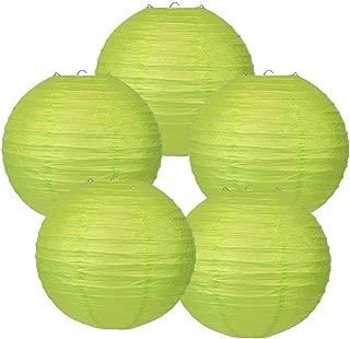 Just Artifacts 16-Inch Light Green Chinese Japanese Paper Lanterns (Set of 5, Light Green)