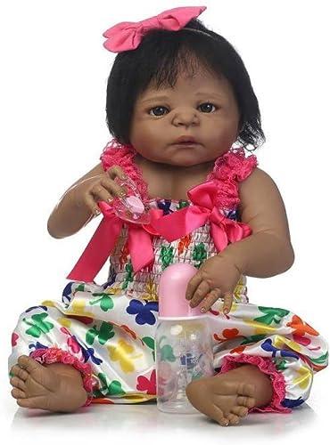 ZBYY Reborn Dolls Sch  22 Inch 5cm Lebensechte Puppen Babys Handgemachtes mädchen Silikon Vinyl Realistische Puppe