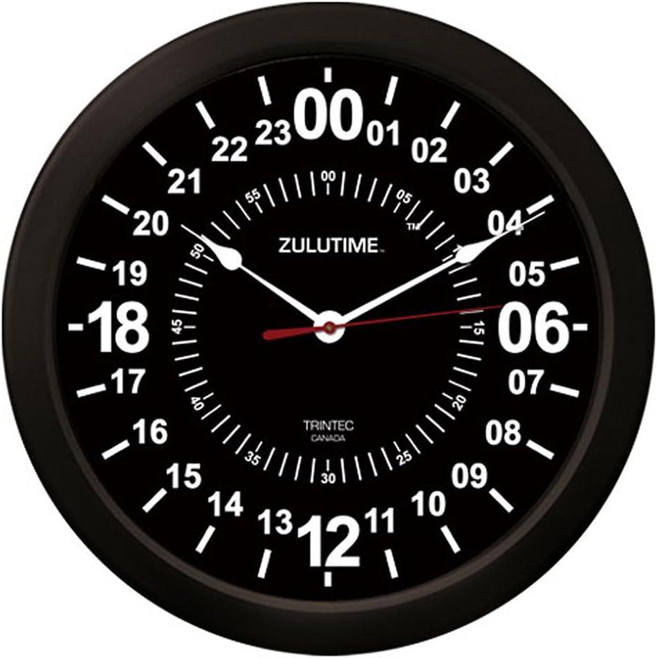 Trintec 24 Oakland Mall Hour Military Time SWL Wall Clock Black 10