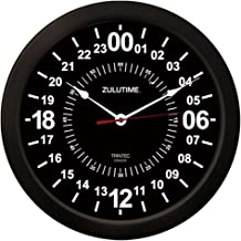 Trintec 24 Hour Military Time Zulu Time Wall Clock 14