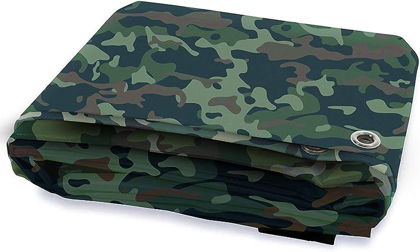 GLP Toile résistante imperméable de bache de Camouflage de Prougeection Solaire avec la boutonnière, Le Camion, Le Bateau, Le Camping-Car, Le Toit de Camping ou la Couverture de Piscine, (500G   M2)