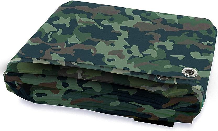 GLP Toile de Camouflage Militaire Toile imperméable épaisse Toile de Pluie pour Tente auvent Couvert de bache de Prougeection Solaire (500g   mètre carré, épaisseur  0.8mm) (Taille   3M×6M)