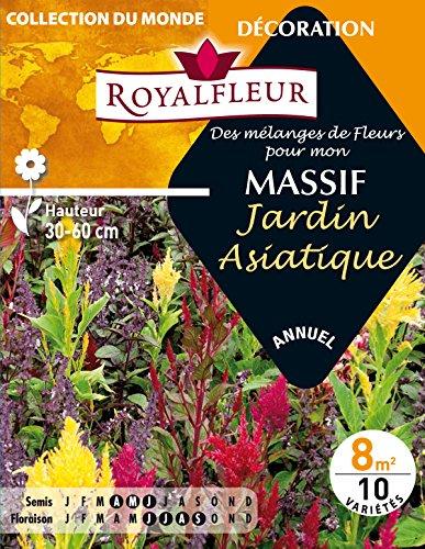 Royalfleur PFRE08803 - Sembrar Flores Mezclado mi jardín asiático masiva 8 m²