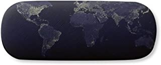 Mystery Space Planet Earth Aerial Map Glasses Case Eyeglasses Hard Shell Storage Spectacle Box