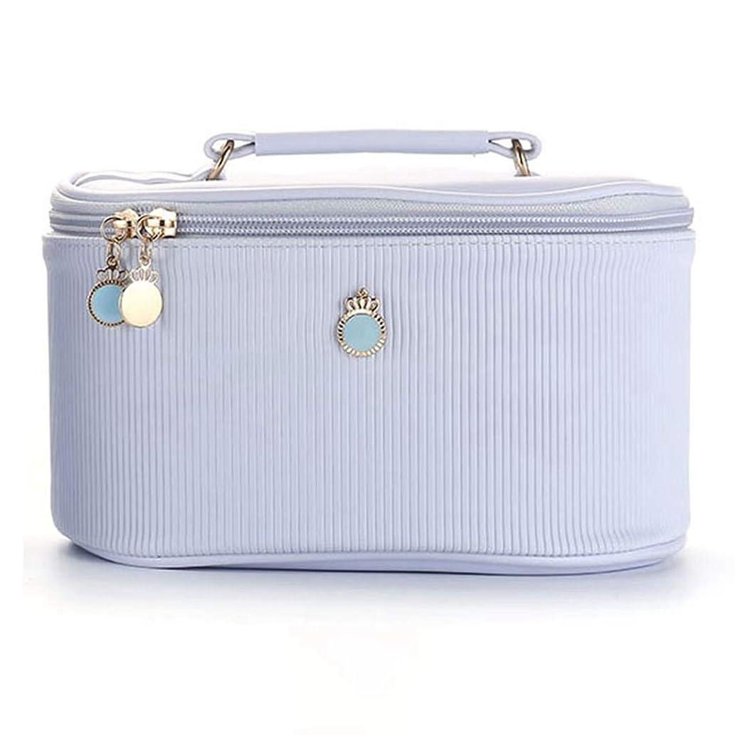 [テンカ] メイクボックス コスメボックス 大容量 おしゃれ かわいい 化粧品収納ボックス ブランド 人気 プロ 化粧バッグ 小物入れ 機能的 旅行 メイクポーチ コスメケース 大きい ブルー