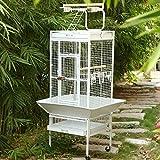 Birds' Park Jaula para pájaros importada para Loro Gris, eclecto, Sol, Cono, cacatúas y pájaros con Parte Superior de Juego