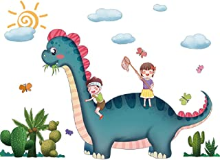 Amaonm Creative Removable Animals Party Wall Decoration Art Decor Dinosaur Clouds Sun Wall Decals Wild Animal Wall Sticker...