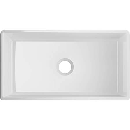 Winpro Farmhouse Apron Front Fireclay 33 X 18 X 10 Plain Single Bowl Kitchen Sink With Center Drain In White Appliances