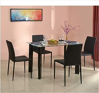 1524f26c6b5 Nilkamal Chrysanta Glass 4 Seater Dining Set price in India April ...