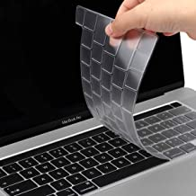 TwoL Ultra Thin TPU Keyboard Cover Skin for New MacBook Pro 16 inch 2019 Release with Touch Bar and Touch ID (Transparent)