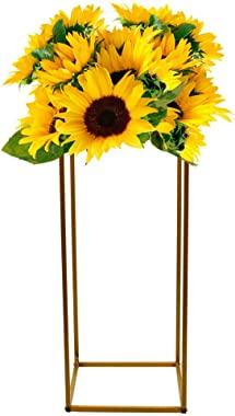 TFCFL 4/10 Pcs Gold Wedding Flower Stand Metal Vase Column Stand Geometric Centerpiece Vase (10pc 80cm)