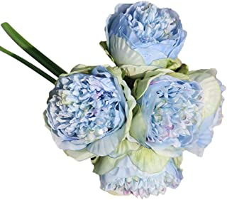 Farantasy造花ファッション美しい現実的な人工絹偽の花牡丹花の結婚式の花束ブライダルアジサイ装飾家の結婚式の装飾の人工花