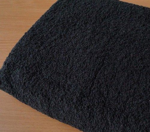 Handtuch mit Namen bestickt Duschtuch Geschenk Badetuch 500 g/m2 (70 x 140 cm, Schwarz)