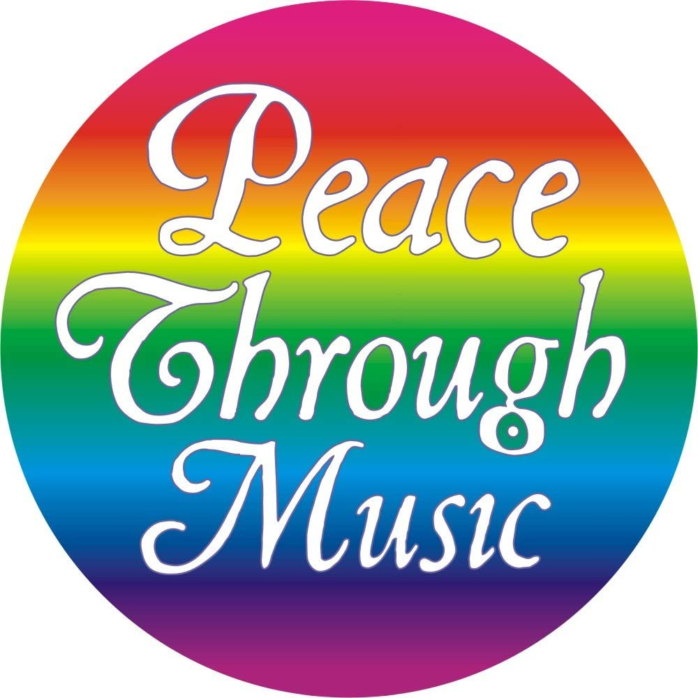 Peace Max 41% OFF Through Music Pinback - Button Mail order